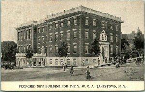 1910s Jamestown, New York Postcard PROPOSED NEW BUILDING FOR THE YWCA Unused
