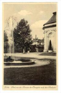 Fulda. Blick von der Terrasse der Orangerie nach dem Paulustor, Germany , 190...