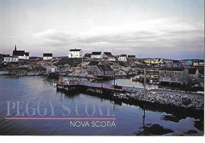 Town of Peggy's Cove & Dock Nova Scotia Canada 4 by 6