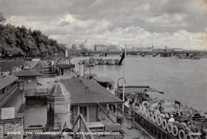 Vintage 1956 London Postcard, The Embankment from Westminster Bridge L17