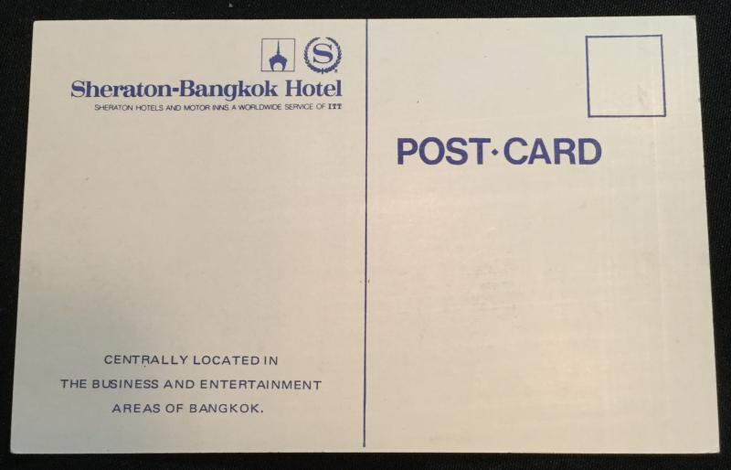 Postcard Unused Sheraton-Bangkok Hotel Thailand LB