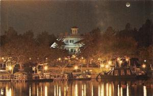 USA Haunted Mansion, New Orleans Square River Boats Night view
