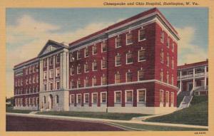 West Virginia Huntington Chesapeake and Ohio Hospital Curteich