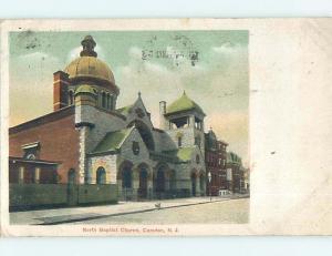 Divided-Back CHURCH SCENE Camden New Jersey NJ p5335