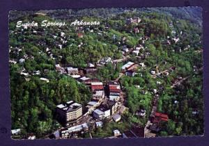 AR Aerial City View EUREKA SPRINGS ARKANSAS Postcard