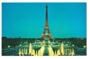 TWA Paris Eiffel Tower Advertising Postcard Trans World