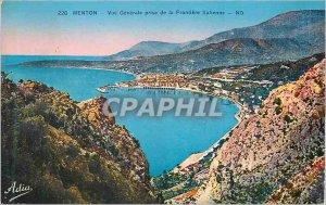 228 Old Post Card chin general shooting nd Italian border