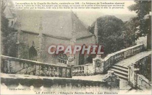 Postcard The Old Chapel St. Barbara Faouet Stairs