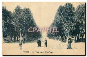 Old Postcard Marseille Prado saw roundabout
