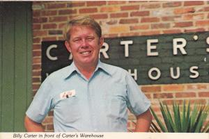 Billy Carter In Front Of Carter's Warehouse