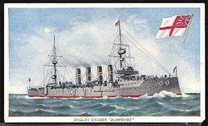 USA Postcard England Cruiser HMS Hampshire