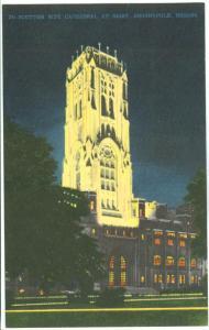 USA, Scottish Rite Cathedral at night, Indianapolis, Indiana, unused Postcard