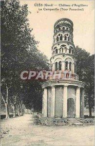Postcard Old Uzes (Gard) Chateau of Argilliers The belfry (Tower Fenestrel)