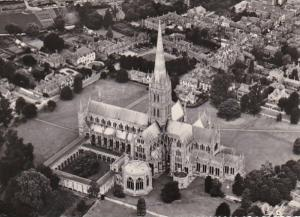England Salisbury Cathedral Aerial View