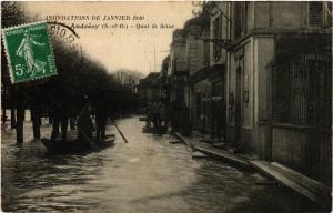 CPA Inondations de Janvier 1910 - ANDRESY - Quai de SEINE (453248)
