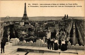 CPA PARIS 16e-Les Avenues d'Iéna et Kléber-La Tour Eiffel-Le Trocadéro (325607)