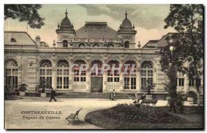 Contrexeville Postcard Old facade of the casino