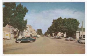 Choteau Montana Street Scene Cars 1950s  postcard