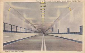 Alabama Mobile Interior Of Bankhead Tunnel Under Mobile River 1943 Curteich