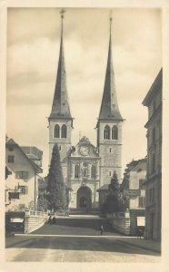 Postcard Switzerland Luzern church
