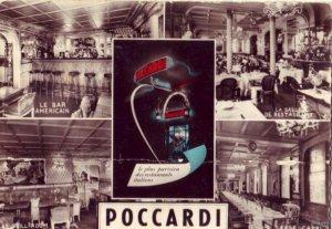 POCCARDI RESTAURANTS PLEIN CENTRE DE PARIS FRANCE 1955