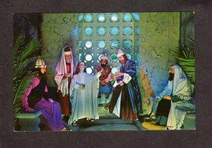 TN Christus Gardens Gatlinburg Tennessee Postcard Linen Religious Jesus