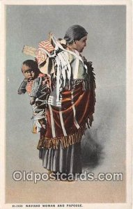 Navaho Woman & Papoose Unused
