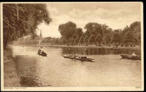 bedfordshire, BEDFORD, The River, Rowing Boats (1940s) (1)
