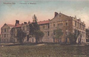 Hand Tinted, Schweitzer Hall, University of Missouri, Columbia, Missouri 1940...