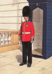 Guardsman Scots Scottish Guard in London 1992 Military Uniform Postcard