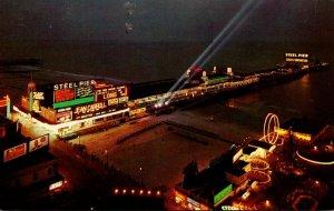 New Jersey Atlantic City Steel Pier At Night
