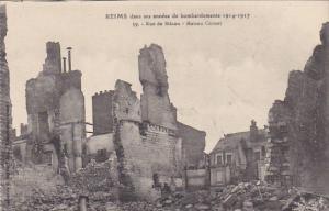 France Reims dans ses annees de Bombardements 1914-1917 Rue de Macon