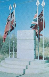 Mackenzie Mounment dedicated to the pioneers of the Peace River country, Brit...