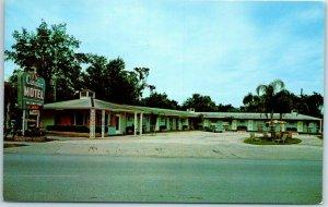 Ocala, Florida Postcard CAVALIER MOTEL Route 441 Roadside Dexter Chrome c1950s