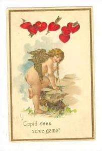 Cupid Sees Some Game & Climbs On Rock To Get Shot, 1908