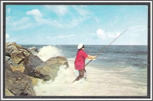 United States Fishing In The Pounding Surf