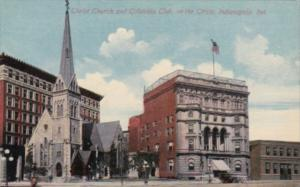 Indiana Indianapolis Christ Church and Columbia Club On The Circle