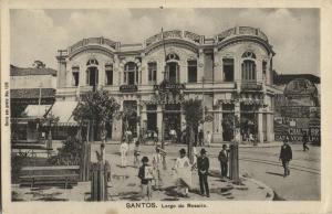 brazil, SANTOS, S.P., Largo do Rosario (1910s) Postcard