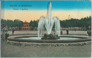 85717 - CARTOLINA d'Epoca -  MANTOVA città -  PIAZZA VIRGILIANA 1914