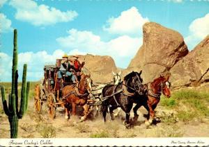 Arizona Cowboy Cadillac Horses and Stagecoach