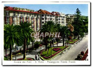 Postcard Modern Riviera Remo Passeggiata Trento Trieste