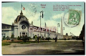 Postcard Old Gent 1913 City of Paris and the & # Nations 39Avenue