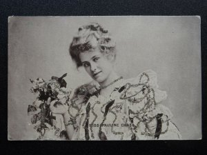 Actress MISS PAULINE CHASE Hand Glittered c1905 Postcard by Raphael Tuck 6556