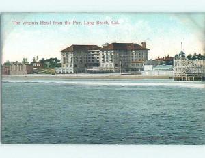 Divided-Back HOTEL SCENE Long Beach - Los Angeles California CA B3278