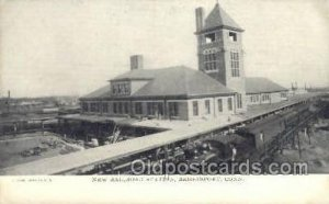New RR Station, Bridgeport, CT USA Train Railroad Station Depot Unused