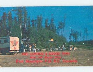 Chrome CAMPGROUND Pink Mountain - Near Fort St. John & Dawson Creek BC AH4595