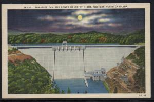 North Carolina colour PC Hiwassee Dam and Powerhouse unused