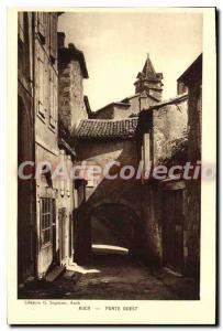 Postcard Auch Old West Gate