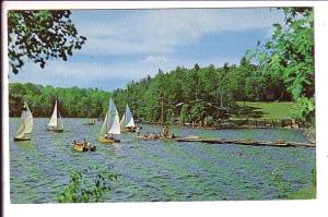 Manitou-Wabing Camp of Fine Arts, Parry Sound, Ontario, Used 1968, Sail Boats