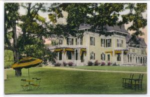 Crestwood Inn Green Mountains Rutland Vermont handcolored postcard